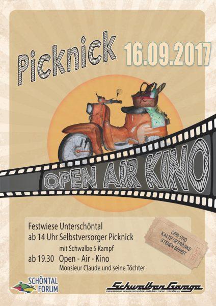 Plakat Picknick und Open Air