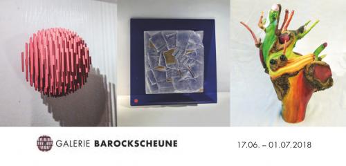 Flyer Ausstellung Galerie Barockscheune 2018
