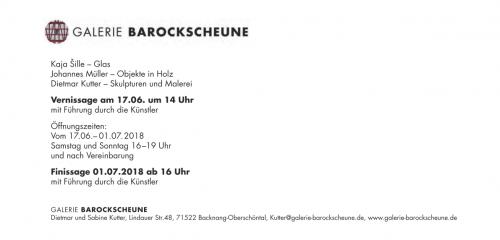 Flyer Ausstellung Galerie Barockscheune 2018 Seite 2